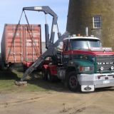 Callington Mill restoration - arrival of internal workings from the United Kingdom