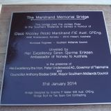 Nick Marstrand Memorial Bridge Dedication 31st January 2014 - 065